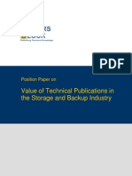 TWB Position Paper Storage and Backup Industry