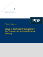TWB Position Paper Telecommunications Software Industry