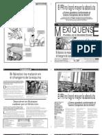 Versión impresa del periódico El mexiquense 23 agosto 2012