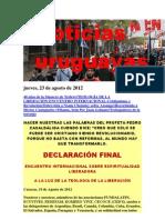 Noticias Uruguayas Jueves 23 de Agosto Del 2012