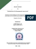 Prafful's Project (08SLC08173) - Distribution Mix of Sri Shanmugananda Soap-nut Works
