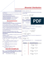 01. Binomial Distribution (CD) Maths +2 objective qustions