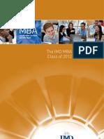 IMD MBA Class Profiles 2012