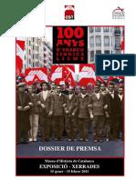 Dossier Premsa exposició  Anarcosindicalisme