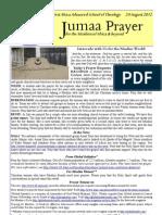 Jumaa Prayer 24 August 12