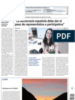 Contraportada Diario AltoAragón. Helena Menéndez