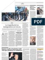 Agresiones a inmigrantes - Grecia