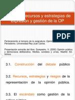 Tema 3. Procesos, recursos y estrategias de expresión y gestión de la opinión pública