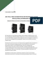 KEF stellt neue quadratische und rechteckige Custom Installation Lautsprecher vor