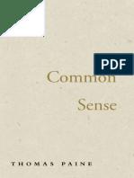 Common Sense - Thomas Paine - Large Print