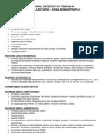 Conteúdo Programático - TST - Técnico Judiciário