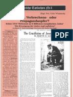 Historische Tatsachen - Nr. 01 - Udo Walendy - Kriegs-, Verbrechens- Oder Propagandaopfer (1975-1994, 40 S., Scan-Text)