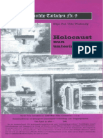 Historische Tatsachen - Nr. 09 - Udo Walendy - Holocaust Nun Unterirdisch (1981, 40 S., Scan-Text)