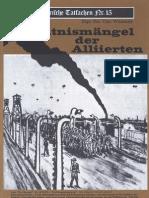 Historische Tatsachen - Nr. 15 - Udo Walendy - Kenntnismaengel Der Alliierten (1982, 40 S., Scan-Text)