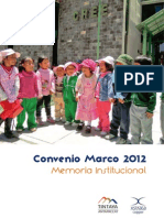 Memoria Convenio Marco 2012