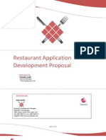 Proposals Restaurant Application Proposal