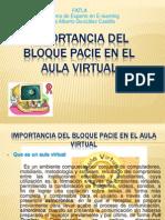 Importancia Del Bloque Pacie en El Aula Virtual