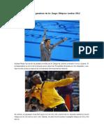Los 30 grandes ganadores de los Juegos Olímpicos Londres 2012