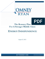 Romney Energy Plan