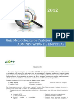 GUIA METODOLÓGICA DE TRABAJOS DE GRADO AE 2012