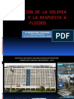 Evaluacion de La Volemia Central y Respuesta a Fluidos - Dr Vidal