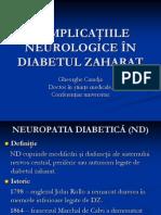 COMPLICAŢIILE NEUROLOGICE ÎN DIABETUL ZAHARAT