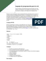 Los Diferentes Lenguajes de Programacic3b3n Para La Web