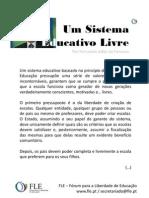 Um Sistema Educativo Livre - Por Fernando Adão da Fonseca