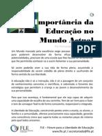 A Importância da Educação no Mundo Actual - por Fernando Adão da Fonseca