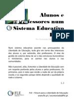 Alunos e Professores Num Sistema Educativo Livre - Por Fernando Adão da Fonseca
