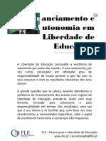 Financiamento e Autonomia em Liberdade de Educação - por Fernando Adão da Fonseca