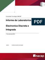 Informe de Electronica Discrete e Integrada