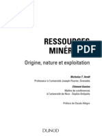 Ressources Minerales 1