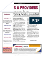 Payers & Providers California Edition – Issue of August 23, 2012