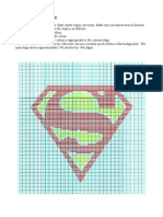 Superman Logo Illusion Knit