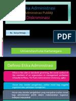Etika Administrasi (Administrasi Publik) Diskriminasi