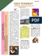 Sandy August 2012 Newsletter