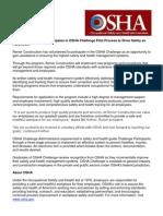 Renier Participates in OSHA Challenge Pilot Process