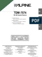 Alpine OM TDM-7574