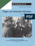 Historische Tatsachen - Nr. 45 - Udo Walendy - Luegen Um Heinrich Himmler - 1. Teil (1991, 40 S., Scan)