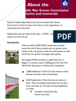 easy read about cwgc cemeteries and memorials