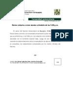 Comunicado de Prensa-Rector Informa Jueves 23 de Agosto