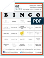 Convention Bingo at the DNC