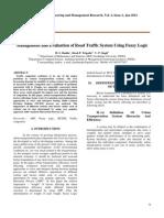 ManagementandEvaluationofRoadTrafficSystemUsingFuzzyLogic(9-13)