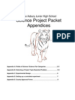 2012 Project Appendices