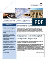 Hedge Fund Operational Due Diligence Insights Corgentum August 2012