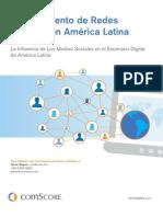 El crecimiento de Redes Sociales en América Latina - ConScore (2011)