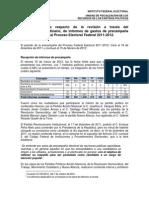 Informe ejecutivo de informe de gastos de precampaña 23agosto12