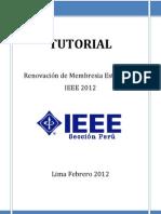 Tutorial Renovacion IEEE