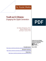 Center For Social Media - Youth As E-Citizens